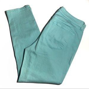 NYDJ Mint Green / Blue Ankle Jeans Plus Size 14